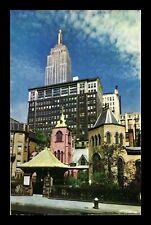 US POSTCARD LITTLE CHURCH AROUND THE CORNER NEW YORK CITY