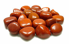 TUMBLED - (4) Small RED JASPER Crystals w/Description Card - Healing Stone Reiki