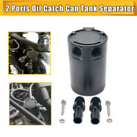 UNIVERSAL INTERNALLY BAFFLED OIL CATCH CAN TANK 2 PORT SEPARATOR 300ML