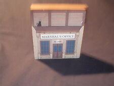 1989 Cat's Meow Shelf Sitter: Marshal's Office W Earp Wild West Series