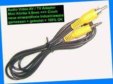 ツ1,5m Audio Mono Adapter PC Soundkarte Boxen Mini Klinke 3,5mm Cinch