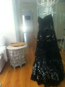 Black High-End Evening Gown W/ Sparkly Lace &Tulle, Floor-length, NWOT RRP $1000