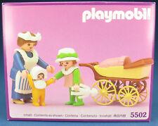 PLAYMOBIL 5502 - Nanny + Kinderwagen - 1989 - Nostalgie rosa Serie - NEU - MISB