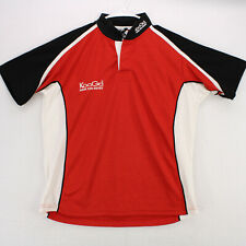 New listing KOOGA RED BLACK RUGBY POLO SHORT SLEEVE SHIRT MEN'S S SMALL