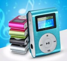 USB Mini Clip MP3 Player LCD Screen Sup. Up To 32GB Micro SD TF Card Blue