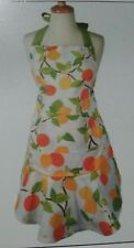 Hostess Apron Chef women's Citrus Fruits with Ruffle Cotton - Cook Kitchen
