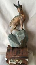 Vintage German Black Forest Brienz Wood Carving Figurine Alpine Goat Ram Buck
