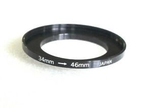 34-46mm Step-Up Ring Adapter - 34mm-46mm Stepping Ring - Japan - NEW