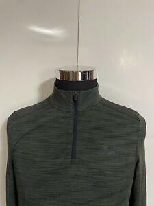 Under Armour 1/4 Zip Threadborne Long Sleeve Mock Neck Green Mens Small