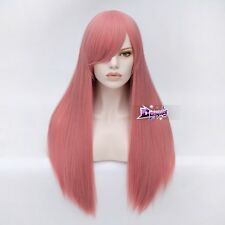 Women's Long Straight 70CM Dark Pink Fashion Party Cosplay Wig + Wig Cap