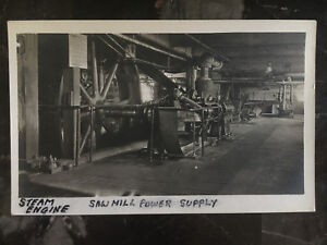 Mint Canada RPPC Postcard Industrial Factory Steam Engine Saw mill