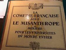 """""""LA COMEDIE FRANCAISE joue LE MISANTHROPE de MOLIERE"""" 2disques 33 t."""