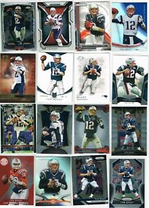 Tom Brady Insert, Chrome, Prizm, Mixed Lot of (48) Cards