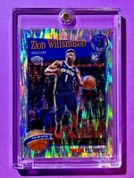 Zion Williamson SILVER FLASH PRIZM ROOKIE PREMIUM STOCK 2019-20 NBA HOOPS RC