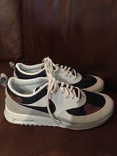 size 40 7f308 e2e18 Nike 844955 400 Air Max Thea Sz 8.5 White   Navy Print Running Shoes