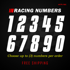 Racing Numbers Vinyl Decal Sticker Dirt Bike Plate Number Bmx Competition 632