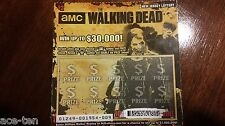 9 AMC's The Walking Dead NJ Scratch off Lottery Tickets TV Show Comic FEAR DVD