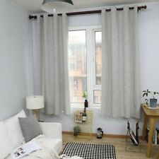 Cotton Linen Curtain Living Room Bedroom Window Plain Treatment Drapes Curtains