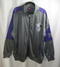 NBA Sacramento Kings Gray Purple 3XL Athletic Warm-up Jacket Zip Front Majestic