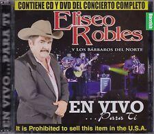 Eliseo Robles y Los Barbaros del Norte En Vivo Para ti CD+DVD  New Nuevo Sealed