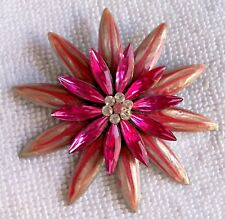 "VINTAGE SHADES OF PINK 2.25"" ACROSS LAMINATED BROOCH, THAT LOOKS LIKE A FLOWER"