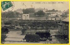 cpa NEVERS en 1910 (Nièvre) Vue sur SAINT GILDARD GARE TRAINS de MARCHANDISES