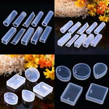 15 Pcs Crystal Geometric Silicone Molds Jewelry Making Pendant Mould Resin DIY