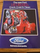 """FORD """" 1.6 DIESEL ENGINE  CAR BROCHURE"""