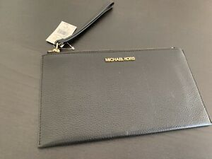 NEW Michael Kors Jet Set Item Large Zip Clutch Wristlet Leather $98