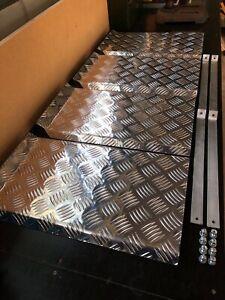 Aluminium checker plate ute tray mudguards Heavy duty 4x4 FULL SET x4 GUARDS