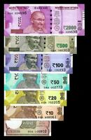 """Re 1/- to 2000/- ALL NEW DESIGN """"0AA"""" 1st Prefix Collection India Banknote SET!"""