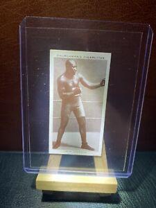 1938 ORIGINAL JACK JOHNSON CIG CARD BOXING PERSONALITIES BOXER HOF VG SPORT
