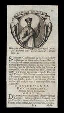 santino incisione 1700 S.LORENZO GIUSTINIANI PATR. DI VENEZIA