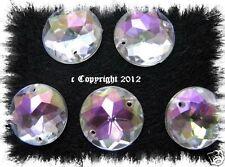 Strasssteine  Aufnähsteine Rund ca. 12mm AB Crystal irisierend Karostonebox