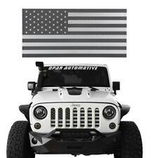 Black Steel American Flag Grille Insert Mesh For Jeep Wrangler 07-18 JK/JKU