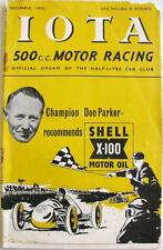 IOTA 500 Motor Racing Car Magazine Dec 1952