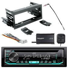 JVC Single-DIN CD AM/FM Radio w/ SiriusXM Tuner + Kit, Harness, Antenna Adapter