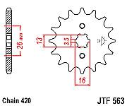 Suzuki A50 AP50 FR70 FR80 GSXR 50 ER21 50 JTF563-14 JT petit pignon NEUF
