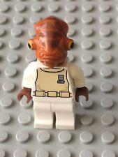 "Star Wars LEGO MINIFIG Minifigure sw247 ADMIRAL ACKBAR 7754 ""IT'S A TRAP"""