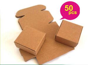 50 PCS Kraft Paper Box Wedding Favor Candy Gift Party Supply Craft Box