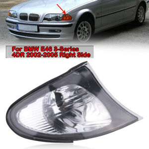 Right For BMW 3 Series E46 2002-2005 Corner Turn Signal Light Cover Clear Lens