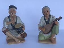 New ListingSet of Homco Asian Man and Woman Musician Collectible Figurines Figures #1436