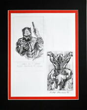 BLACK PANTHER SKETCH PRINT PROFESSIONALLY MATTED DC Alex Ross