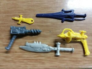 Masters of the universe Vintage He-man Weapons Accessories Lot Sword Gun