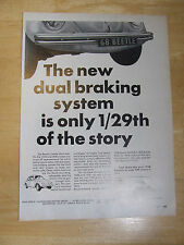 VW VOLKSWAGEN BEETLE 1300 & 1500 1967 ADVERT READY TO FRAME A4 SIZE
