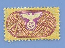 Germany Nazi Third Reich Nazi Swastika Eagle Revenue IX540 Stamp MNH WW2 ERA