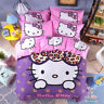Hello Kitty Bedding Set for Kids Girl Room Twin King Duvet Cover Sets Cartoon