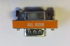 DB9 Male / Female  Null Modem mini gender changerl RS232 gender changer Adapter