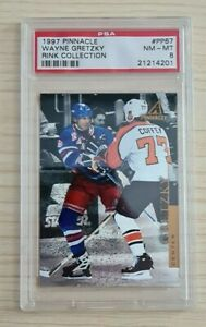 1997 Pinnacle Rink Collection Wayne Gretzky PSA Graded 8 Hockey Card