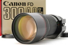 [MINT IN BOX] Canon New FD 300mm f/4 L NFD MF Telephoto Lens w/ caps From JAPAN